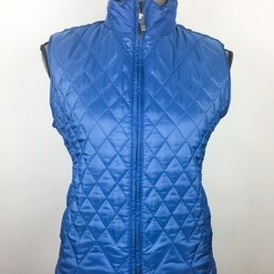Talbots Puffer Quilted Outwear Front Zip Vest